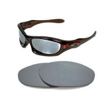 NEW POLARIZED CUSTOM SILVER ICE LENS FOR OAKLEY MONSTER DOG SUNGLASSES